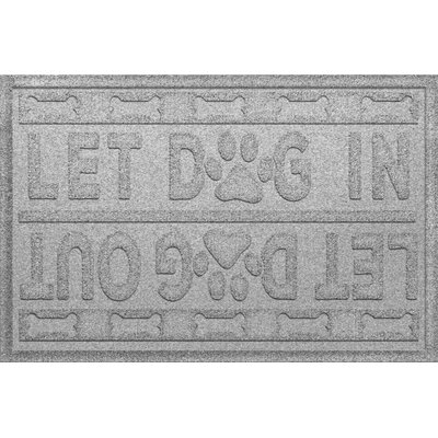 Amald Let Dog In/Out Doormat Color: White