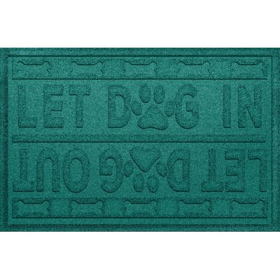 Amald Let Dog In/Out Doormat Color: Aquamarine