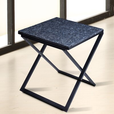 Sturgis Marble Top End Table Table Top Color: Gray