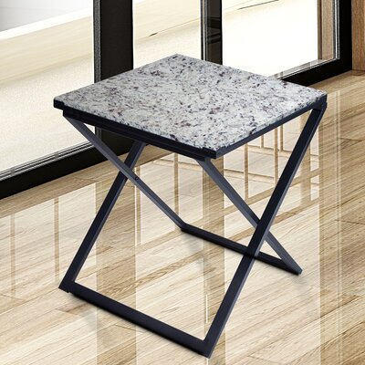 Sturgis Marble Top End Table Table Top Color: White