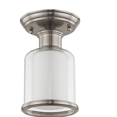 Lisle 1-Light Semi Flush Mount Finish: Brushed Nickel