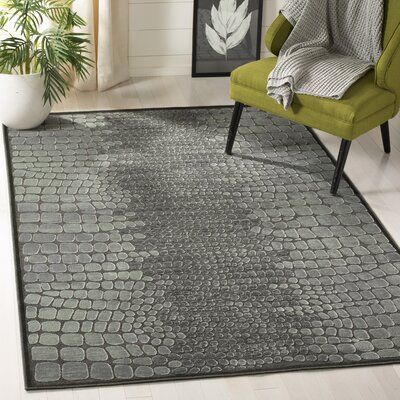 Sunny Anthracite Area Rug Rug Size: Rectangle 51 x 76