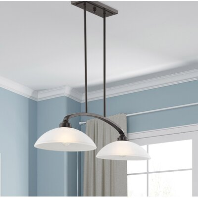 Adden 2-Light Kitchen Island Pendant Finish: English Bronze