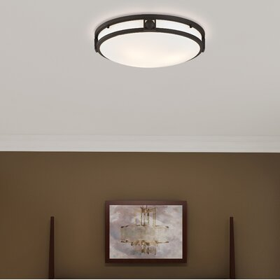 Dane 2-Light Flush Mount Size: 16 W