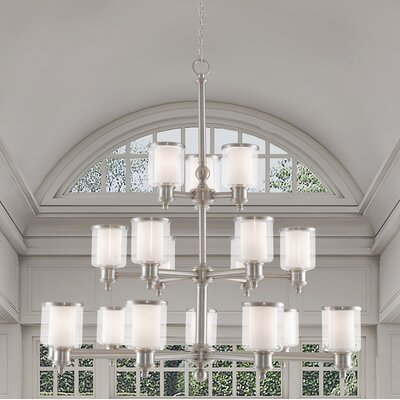 Lisle 18-Light Candle-Style Chandelier Finish: Brushed Nickel