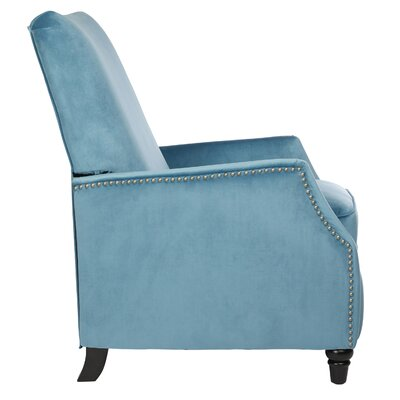 Crespin Manual Recliner Upholstery: Turquoise