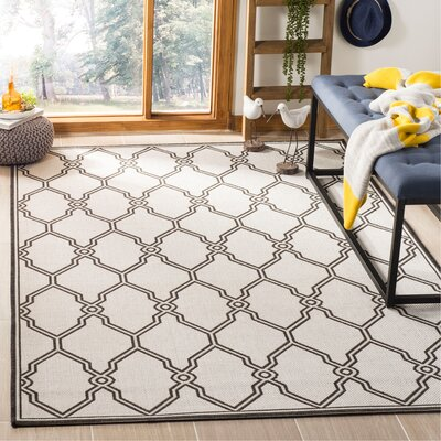 Miesha Contemporary Light Gray Area Rug Rug Size: Rectangle 51 x 76