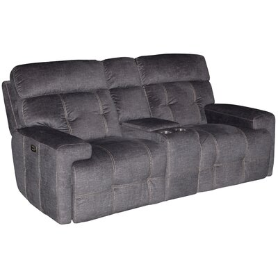 Chow Power Headrest Console Reclining Loveseat