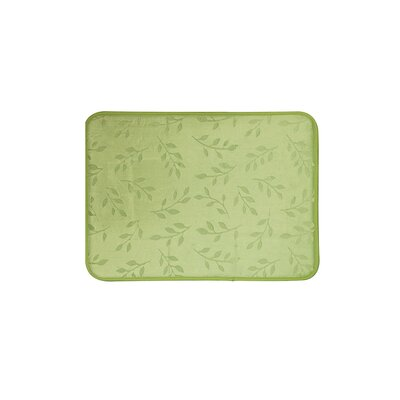 Umstead Memory Foam Leaf Bath Rug Color: Sage, Size: 17 x 24