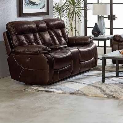 Ellenton Reclining Loveseat with Pillow Top Arms Upholstery: Toffee