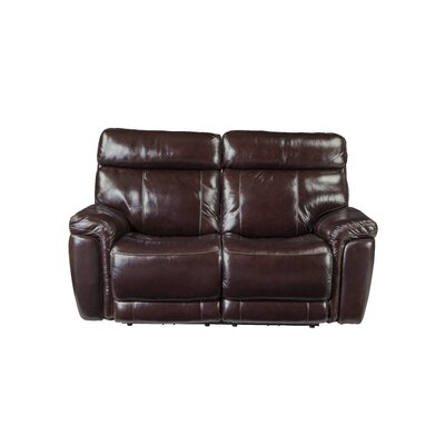 Monty Leather Reclining Loveseat