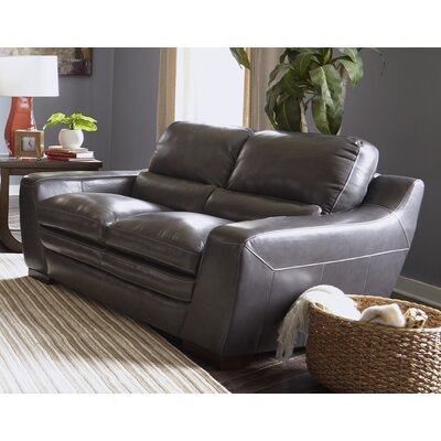 Diedrich Genuine Leather Loveseat