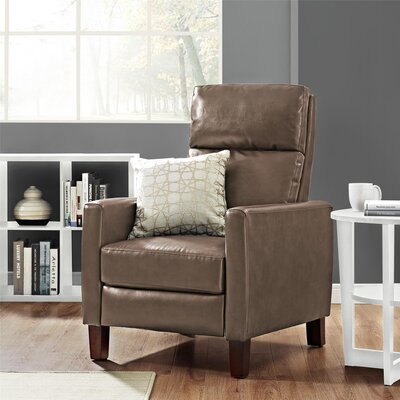 Azurine Pushback Manual No Motion Recliner Upholstery: Taupe