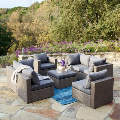 Martins 7 Piece Sectional Set with Cushions