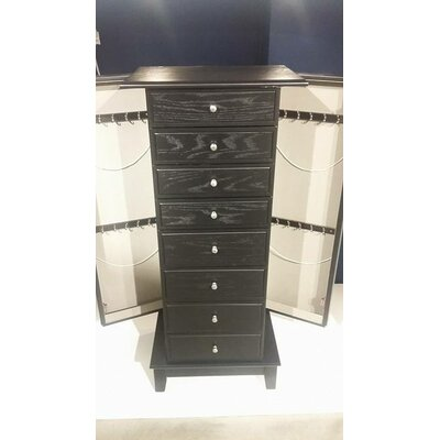 Wilmore Free Standing Jewelry Armoire with Mirror