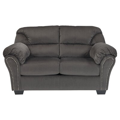 Barwood Loveseat Upholstery: Charcoal