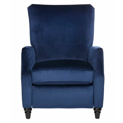 Crespin Manual Recliner Upholstery: Navy Blue