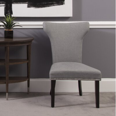 Nielsen Side Chair (Set of 2) Upholstery: Grey Linen