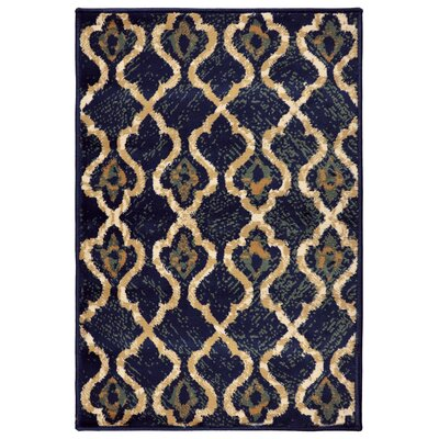 Colena Blue Area Rug Rug Size: Rectangle 2 x 3
