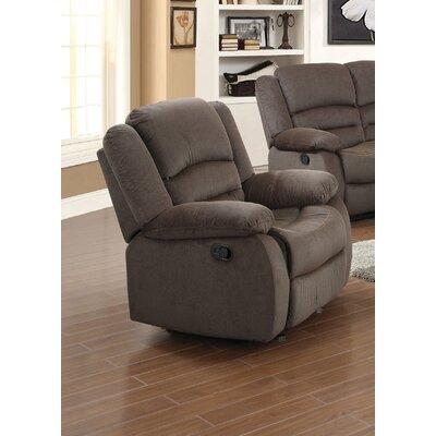 Esteban Manual Recliner Upholstery: Brown