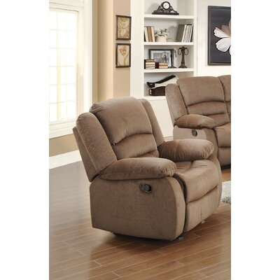 Esteban Manual Recliner Upholstery: Light Brown