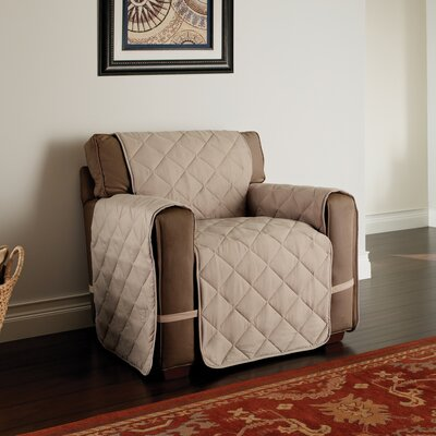 Duvig Box Cushion Armchair Slipcover Color: Natural