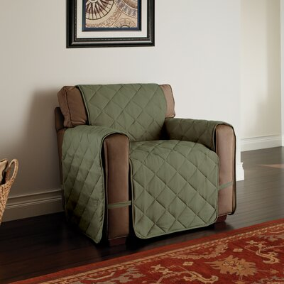 Duvig Box Cushion Armchair Slipcover Color: Sage