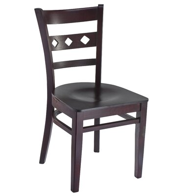 Ewell Solid Wood Dining Chair (Set of 2) Color: Dark Mahogany