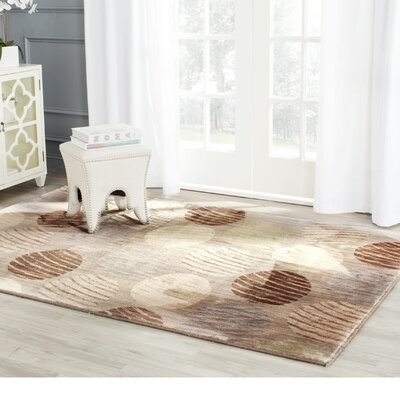 Railside Taupe/Beige Area Rug Rug Size: Rectangle 51 x 76
