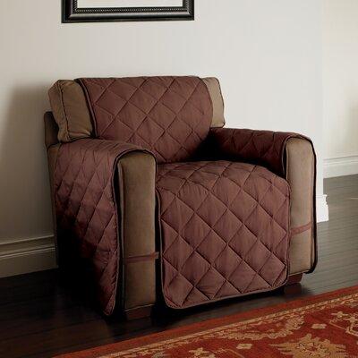 Duvig Box Cushion Armchair Slipcover Color: Chocolate