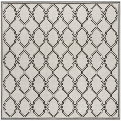 Miesha Contemporary Light Gray Area Rug Rug Size: Square 67