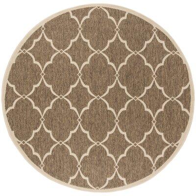 Miesha Beige/Cream Area Rug Rug Size: Round 67