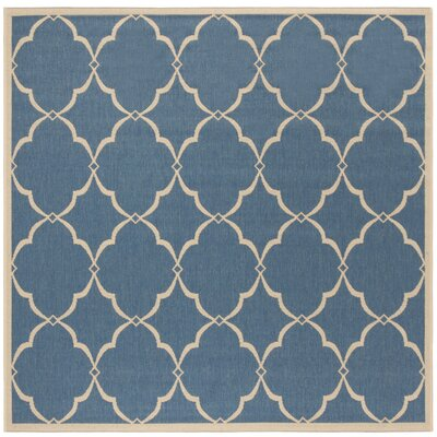 Croker Blue/Cream Area Rug Rug Size: Square 67