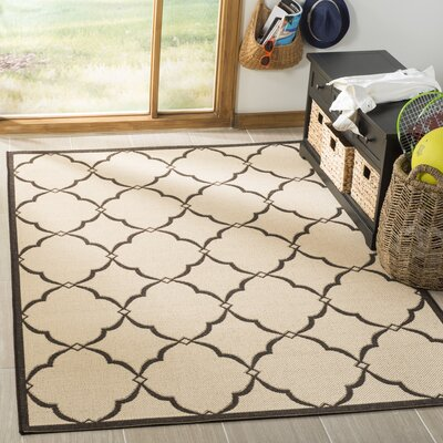 Croker Cream/Brown Area Rug Rug Size: Rectangle 51 x 76