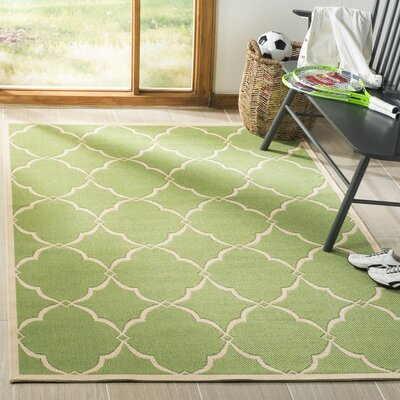 Croker Olive/Cream Area Rug Rug Size: Rectangle 8 x 10