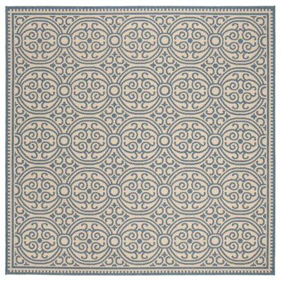 Ferrill Blue/Cream Area Rug Rug Size: Square 67