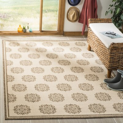 Miesha Cream/Beige Area Rug Rug Size: Rectangle 8 x 10