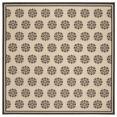 Croker Cream/Brown Area Rug Rug Size: Square 67