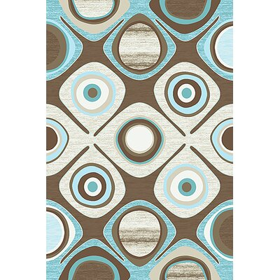 Bonaventure 3D Blue/Cream Area Rug Rug Size: Rectangle 5 x 7
