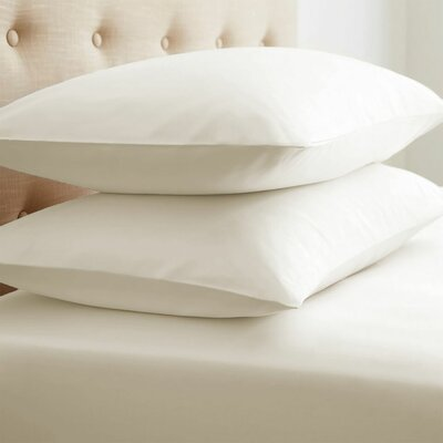 Athens Ultra Soft Pillow Case Color: Ivory, Size: King