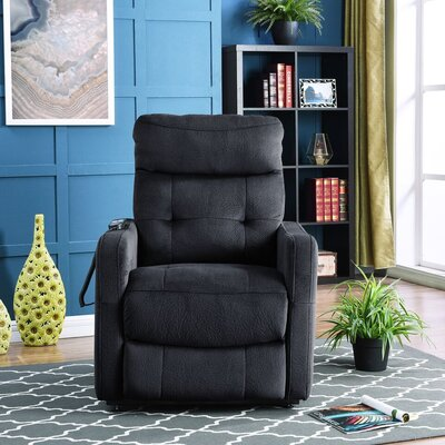 Cerda Power Lift Assist Recliner Upholstery: Navy
