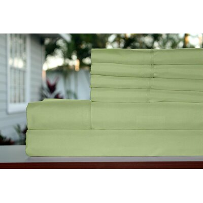 Premium 1800 Series 300 Thread Count Rayon from Bamboo Sheet Set Size: Full, Color: Sage Green