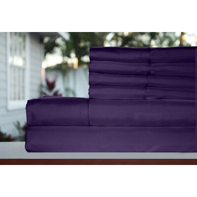 Premium 1800 Series 300 Thread Count Rayon from Bamboo Sheet Set Size: Full, Color: Eggplant