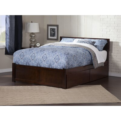 Wrington Storage Platform Bed Color: Antique Walnut, Size: Full