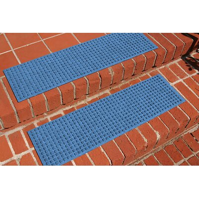Amald Squares Stair Tread Color: Medium Blue
