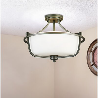 Cintron 3-Light Semi Flush Mount Fixture Finish: Grahite