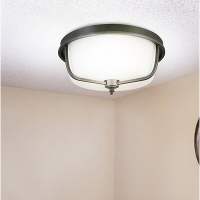 Cintron 3-Light Flush Mount Fixture Finish: Graphite