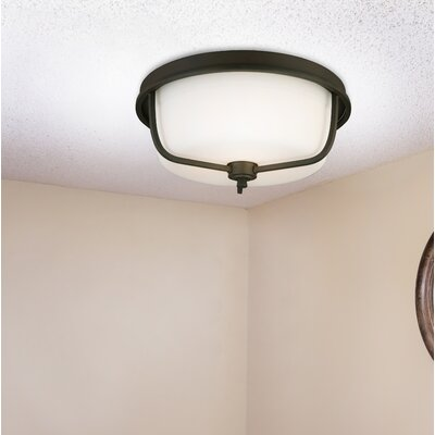 Cintron 3-Light Flush Mount Fixture Finish: Matte Bronze