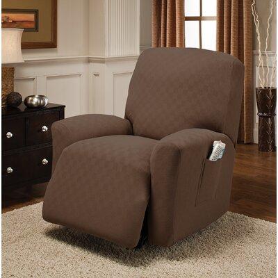 Box Cushion Recliner Slipcover Upholstery: Cocoa
