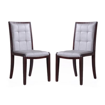 Casolino Upholstered Dining Chair Upholstery: Silver